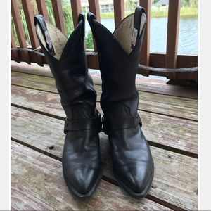 Nocona Genuine Leather Black Cowboy Boots